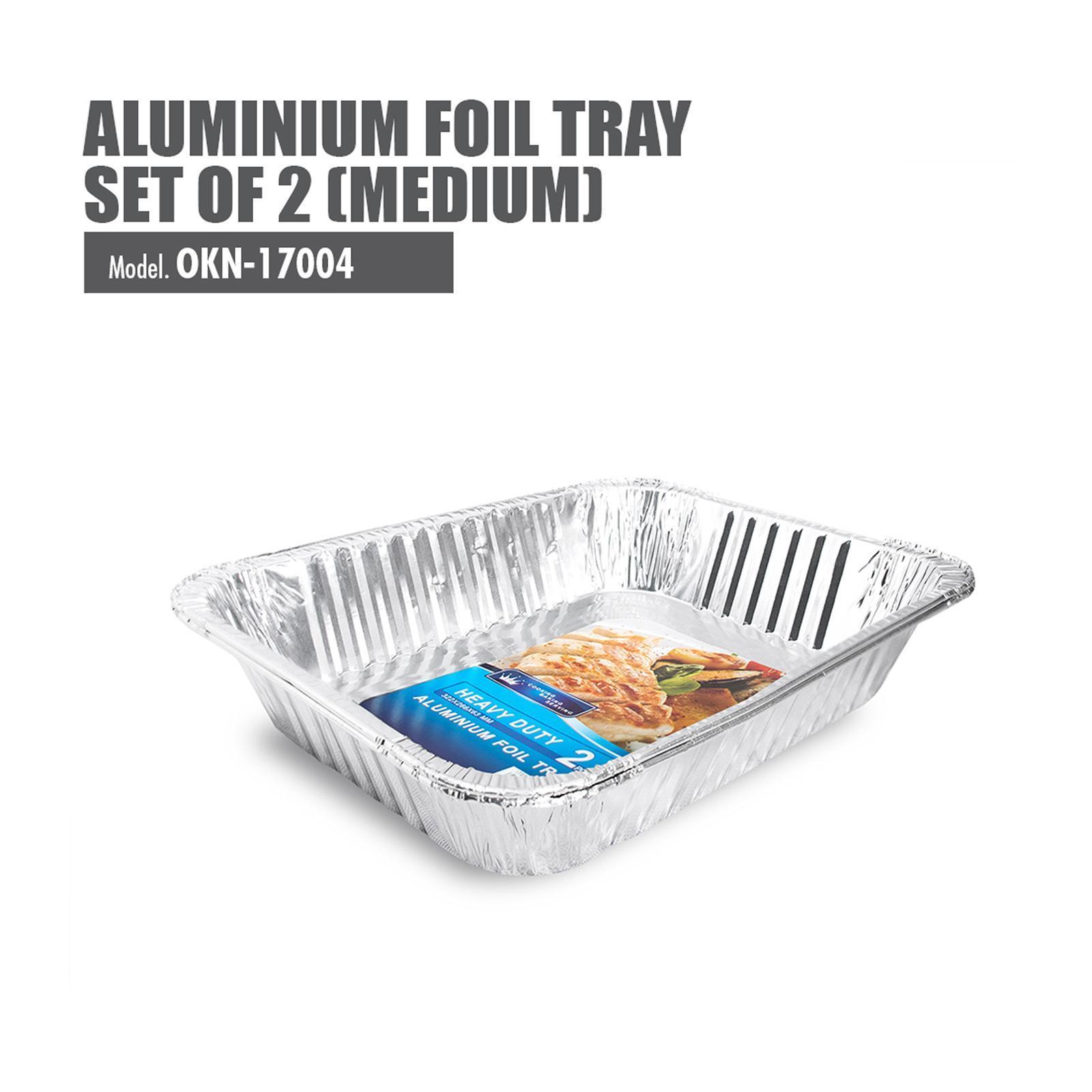 HOUZE Medium Aluminium Foil Tray (Set Of 2) - 322X266X63MM