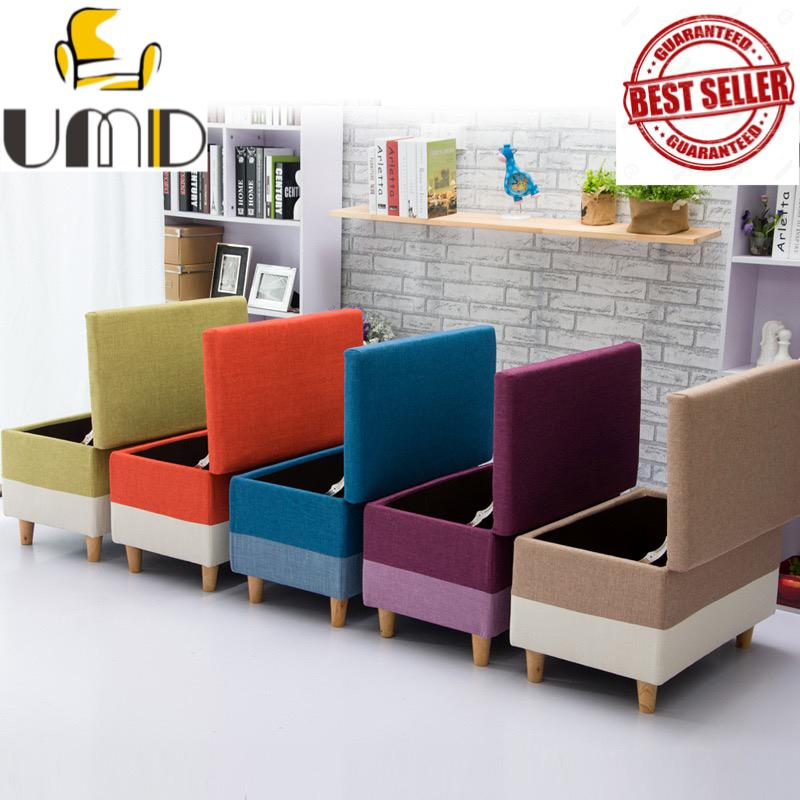 UMD Storage Stool Storage Bench Storage Ottoman with Removable Full Cover Type A(Refer to color option pics for both color & size)