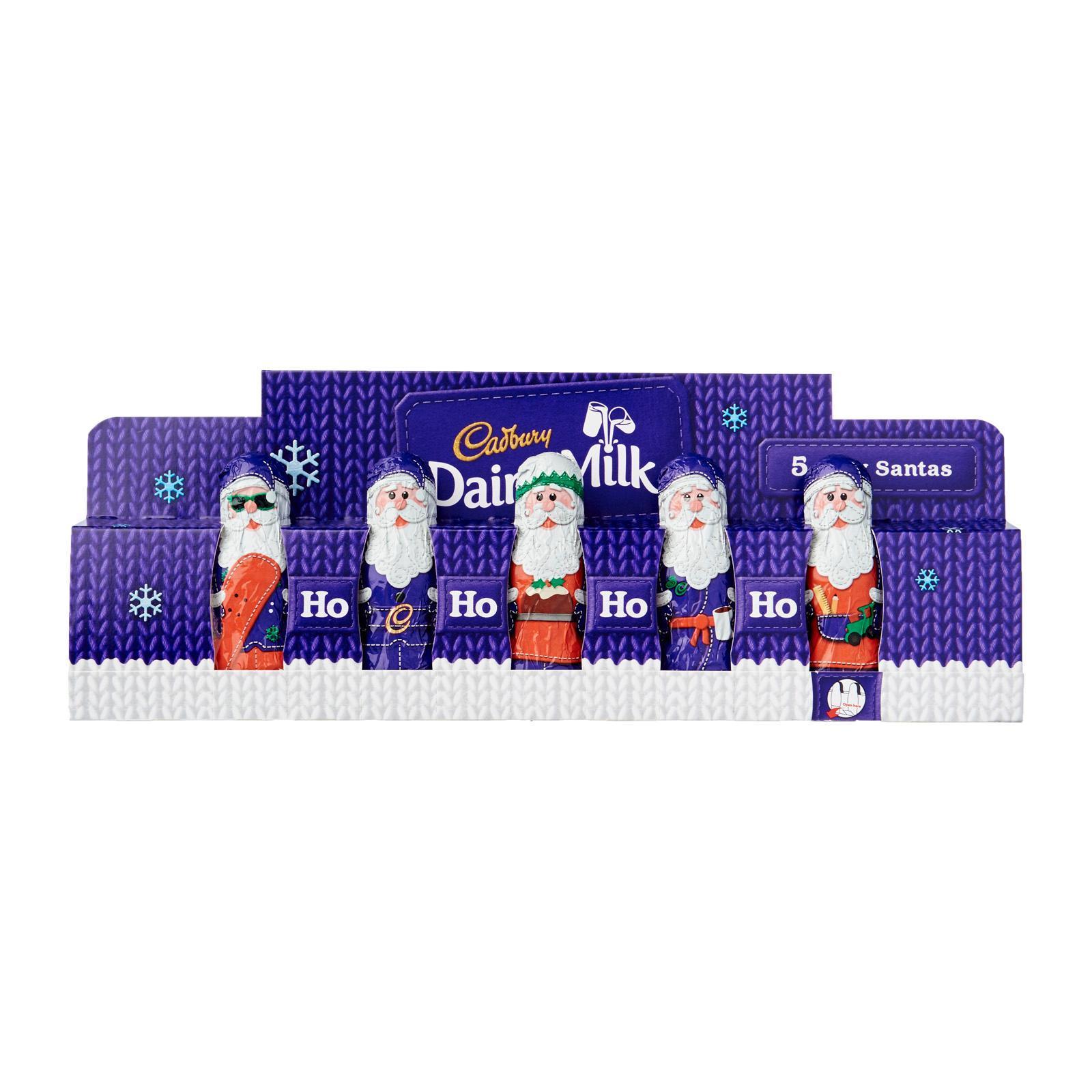 Cadbury Dairy Milk 5 Mini Chocolate Hollow Santa - Christmas Special