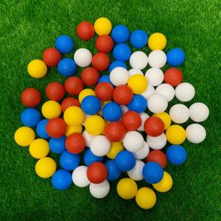 BENGU Đào tạo 50 chiếc Không xốp Nhựa cho trong nhà Bong chơi golf Golf Quả bóng rỗng Bóng tập chơi gôn thumbnail