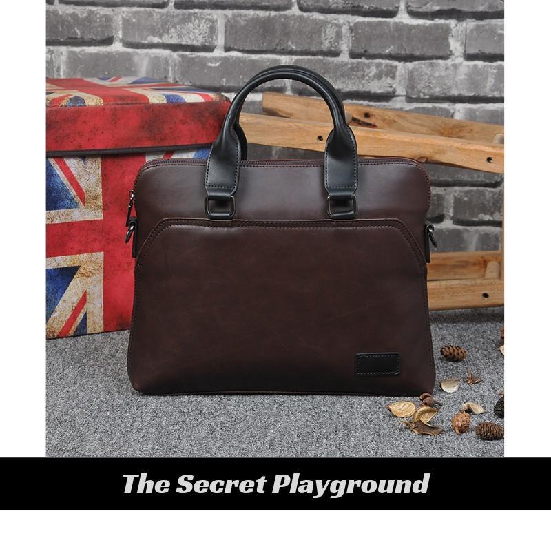 Men Formal Business Leather Bag