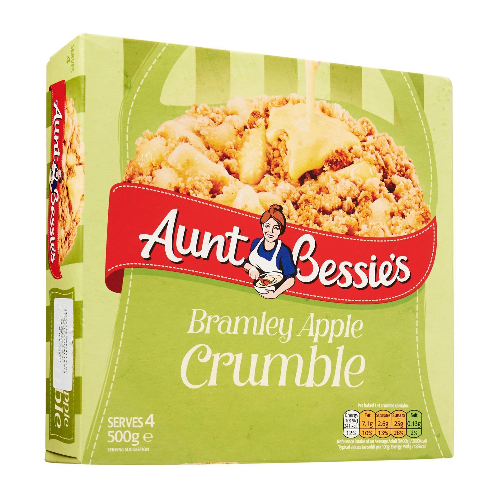 Aunt Bessie's Bramley Apple Crumble - Frozen