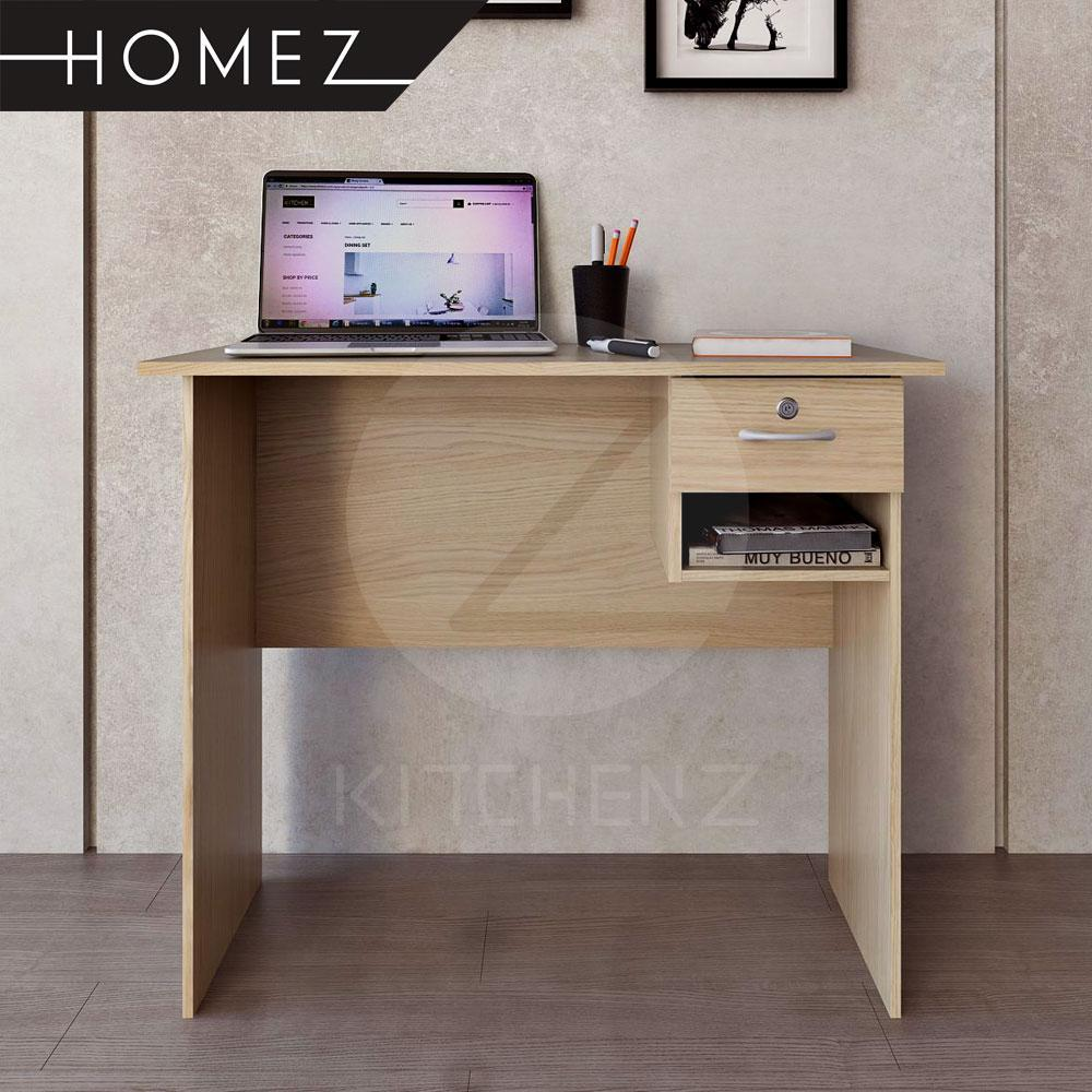 Homez Writing Table HMZ-WT-DT-2001 Office Table Solid Board with 1 Drawer Locker - 3 ft
