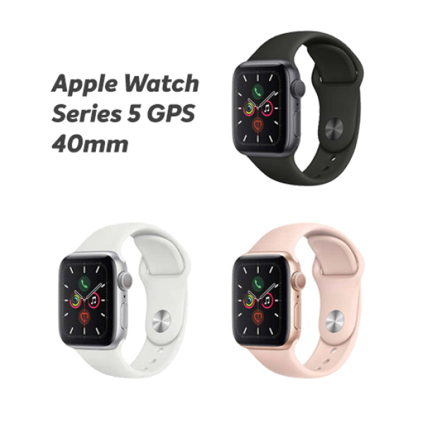 Apple Watch Series 5 GPS with Sport Band - 40mm (Space Gray, Gold, Silver)