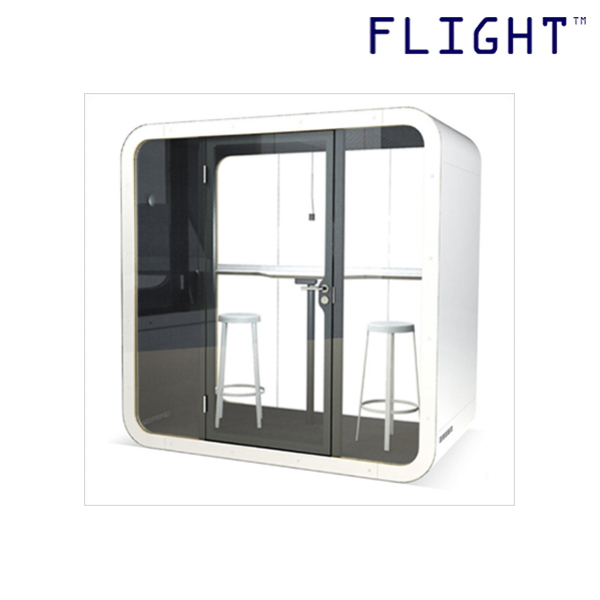 Telephone Booth with Tempered Glass Door, Galvanised Steel, Home Office Ergonomics, Office Furniture, Private Phone Booth, PB-01D - Flight
