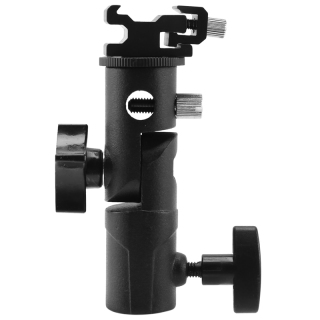 Camera Flash Speedlite Mount,Professional Swivel Light Stand Light Bracket Umbrella Bracket Mount Shoe Holder E Type For Canon Nikon Pentax Olympus and Speedlite Flashe thumbnail