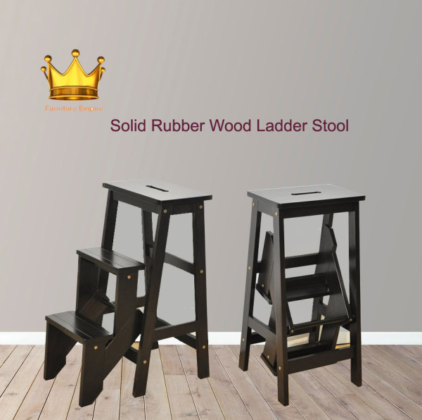 Solid Rubberwood Ladder Stool★High Stool ★Dining Stool ★Bar Stool ★Steps Ladder★
