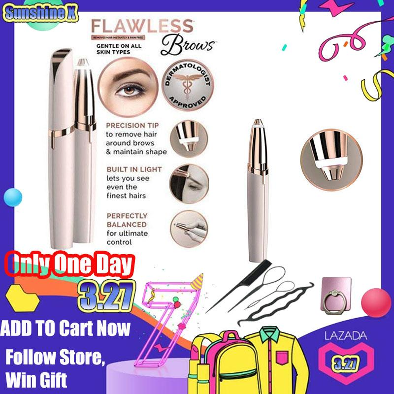 Free Shipping-Flawlessly Brows Hair Remover, Hair Remover Brows Best Eyebrow Trimmer, Safe Womens Painless Hair Remover By Shoppingcenter.
