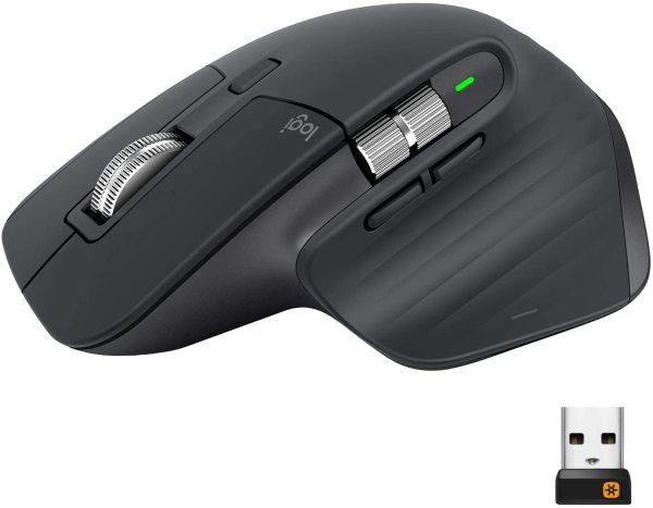 Logitech MX Master 3 Advanced Multi-Device Bluetooth Wireless Mouse With Ultra-Fast Magspeed Scroll --- One Year Warrant