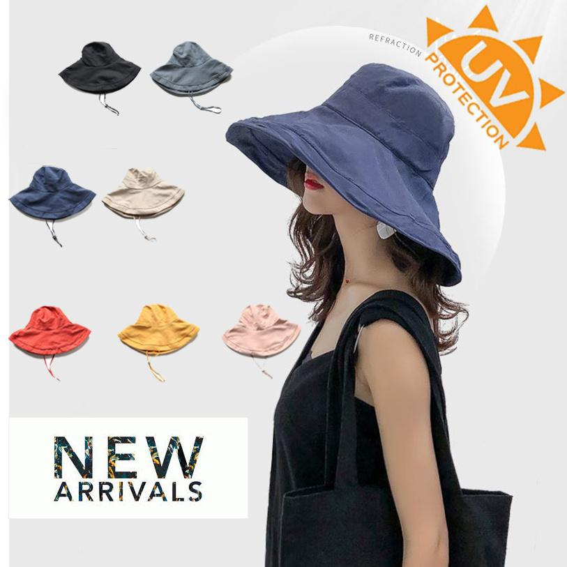 e664463fa127b3 ☀️Japanese Style Women summer reversible Hat☀ UV Sun Protection Wide Brim  Summer ☀