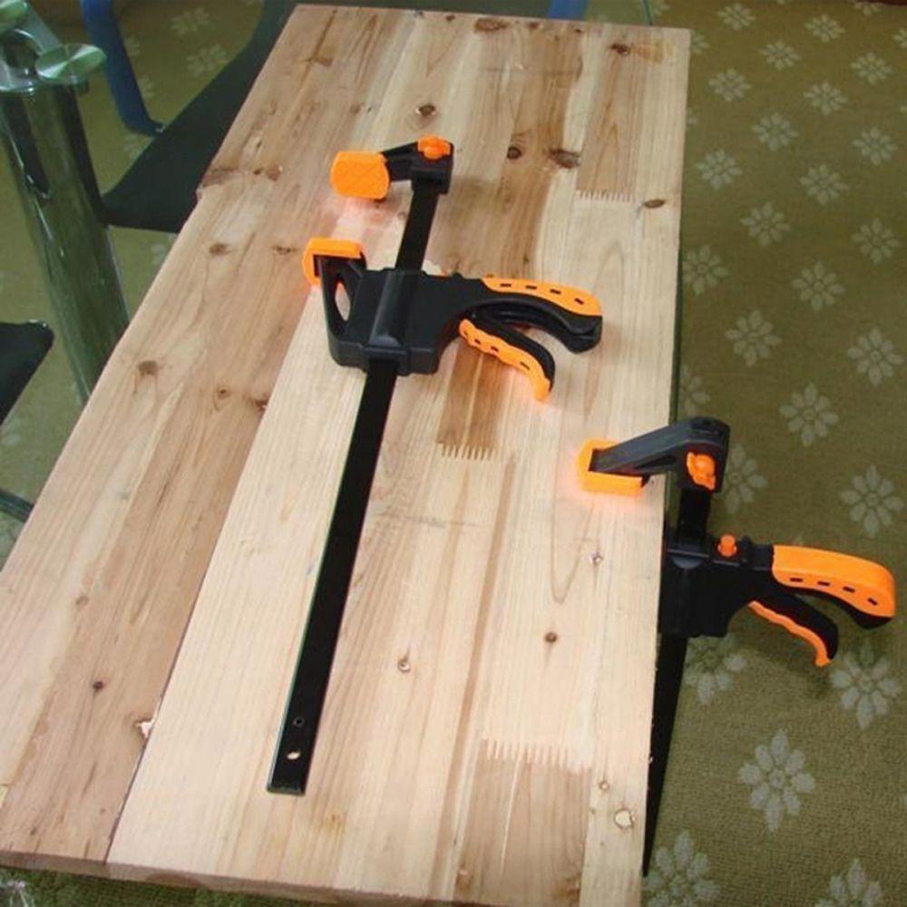 Adjustable 4 inch F Woodworking Clip Quick Grip Clamps Wood Carpenter Tool(Orange)