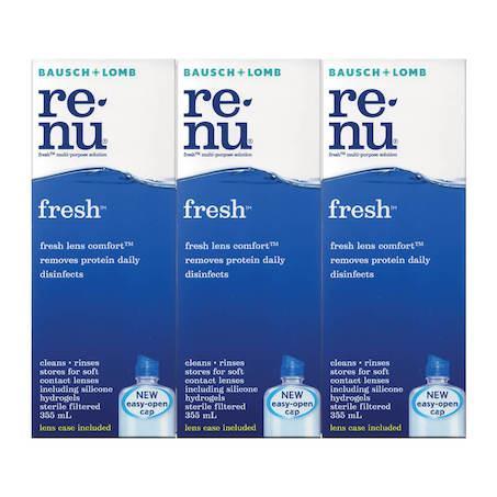 Bausch & Lomb Renu Fresh Triple Pack Contact lens multi purpose solution (355Ml X 3)