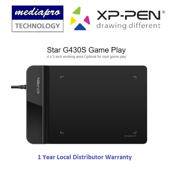 XP-PEN STAR G430S 4 x 3 Drawing Pen Tablet for Signature ( XP PEN / XPPEN ) - 1 Year Local Distributor Warranty