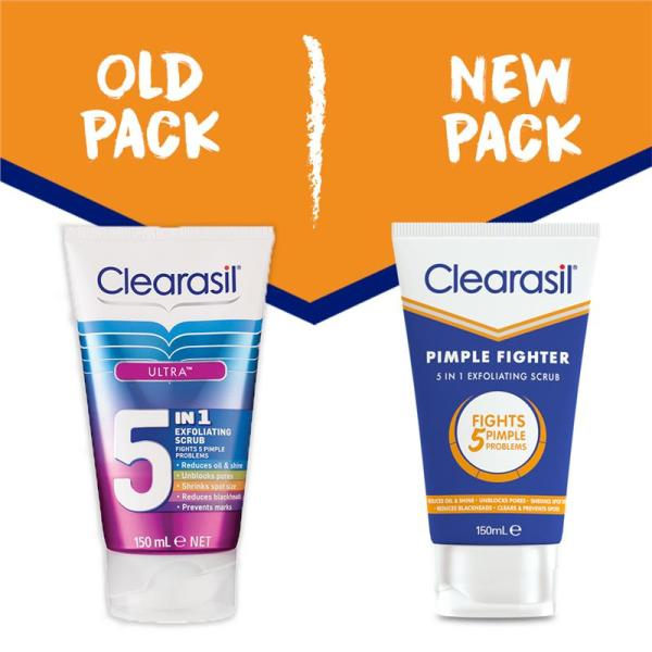Buy Clearasil Pimple Fighter 5 in 1 Exfoliating Scrub 150mL August 2022 Singapore