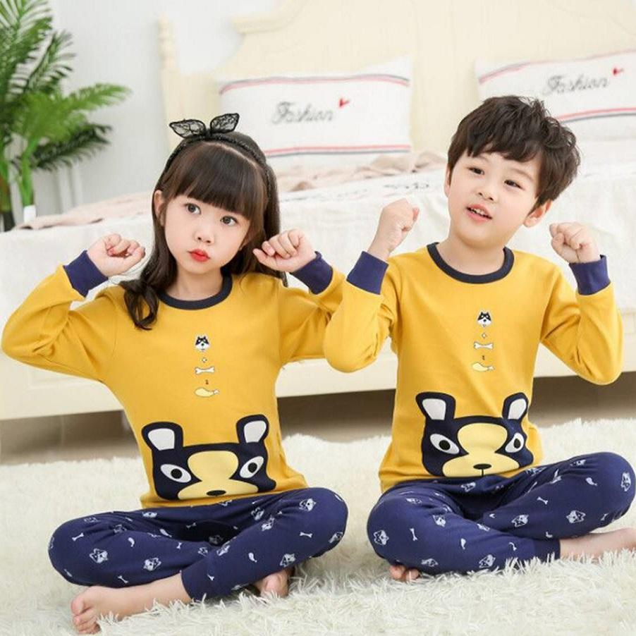 Big Kids Pyjamas /children Family Couple Pyjamas Set Up To Size 180cm Boys [pjn15] By Jolly Sg.