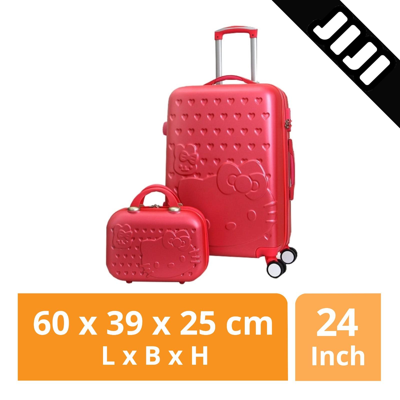 Jiji Hello Kitty Luggage With Suitcase 20/24 Inch - Travel Bags / Refined / Traveling (sg) By Jiji.