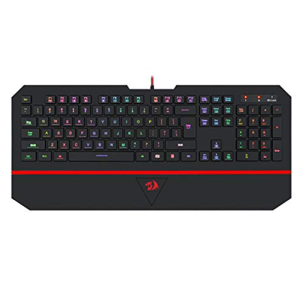 Redragon K502 RGB Gaming Keyboard RGB LED Backlit Illuminated 104 Key Silent Keyboard with Wrist Rest for Windows PC Games (RGB Backlit) Singapore