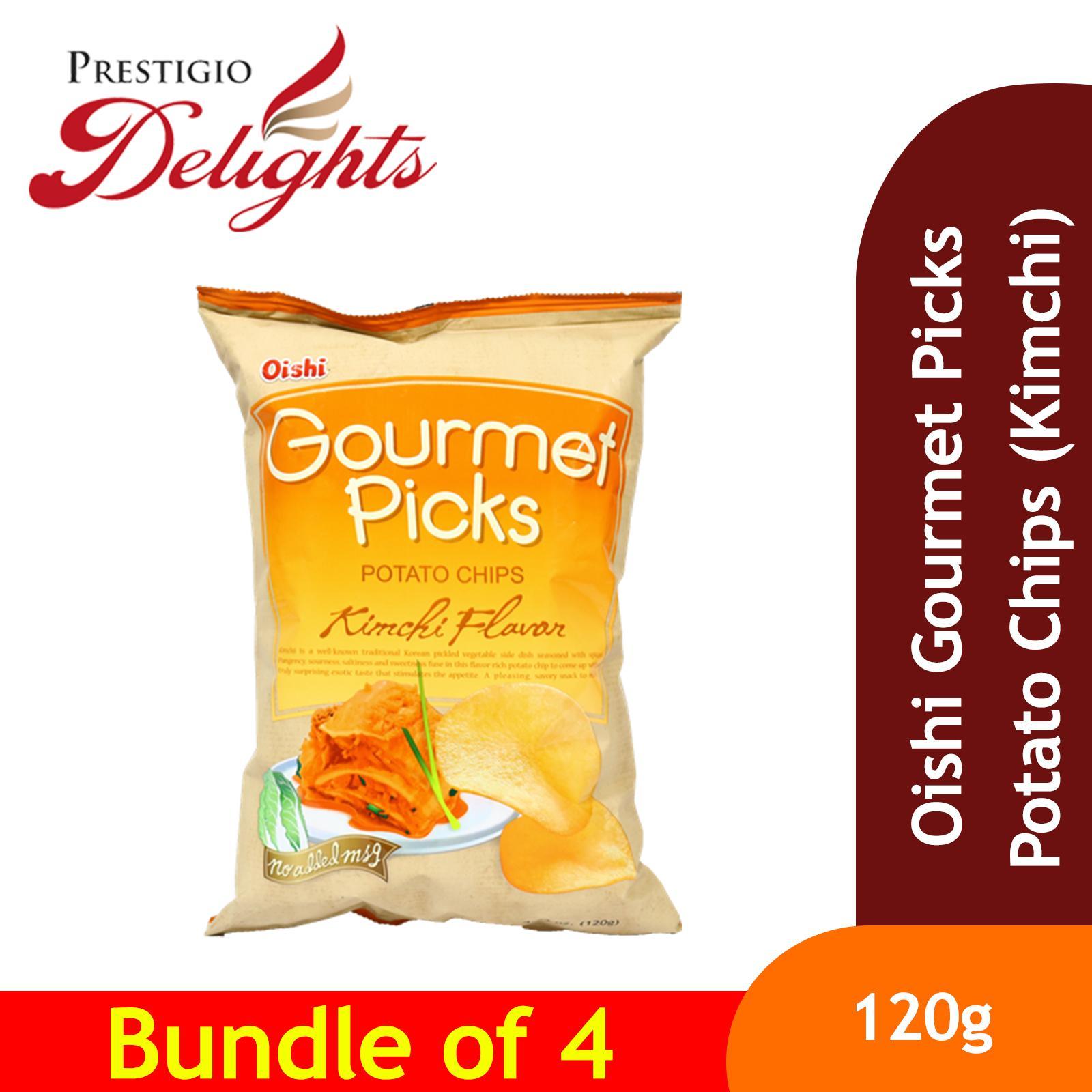 Oishi Gourmet Picks Potato Chips (kimchi) 120g Bundle Of 4 By Prestigio Delights.