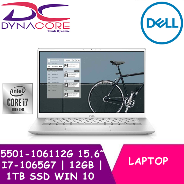 【DELIVERY IN 24 HOURS】 DYNACORE - DELL New Inspiron 15 5000 Laptop (5501) | i7-1065G7 | 12GB RAM | 1TB SSD | MX330 Graphics | 2Y Dell onsite warranty | 5501-106112G | 5501-106112G-W10
