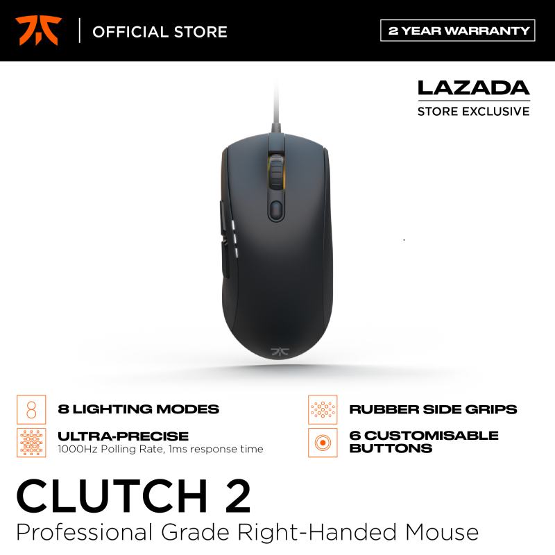Fnatic Clutch 2 Gaming Mouse, Professional Grade Right-Handed E-Sports Gaming Mice