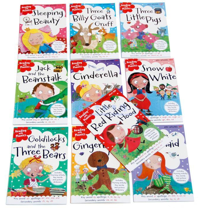 Reading with Phonics - Fairy Tales Story Books Collection - 10 Books