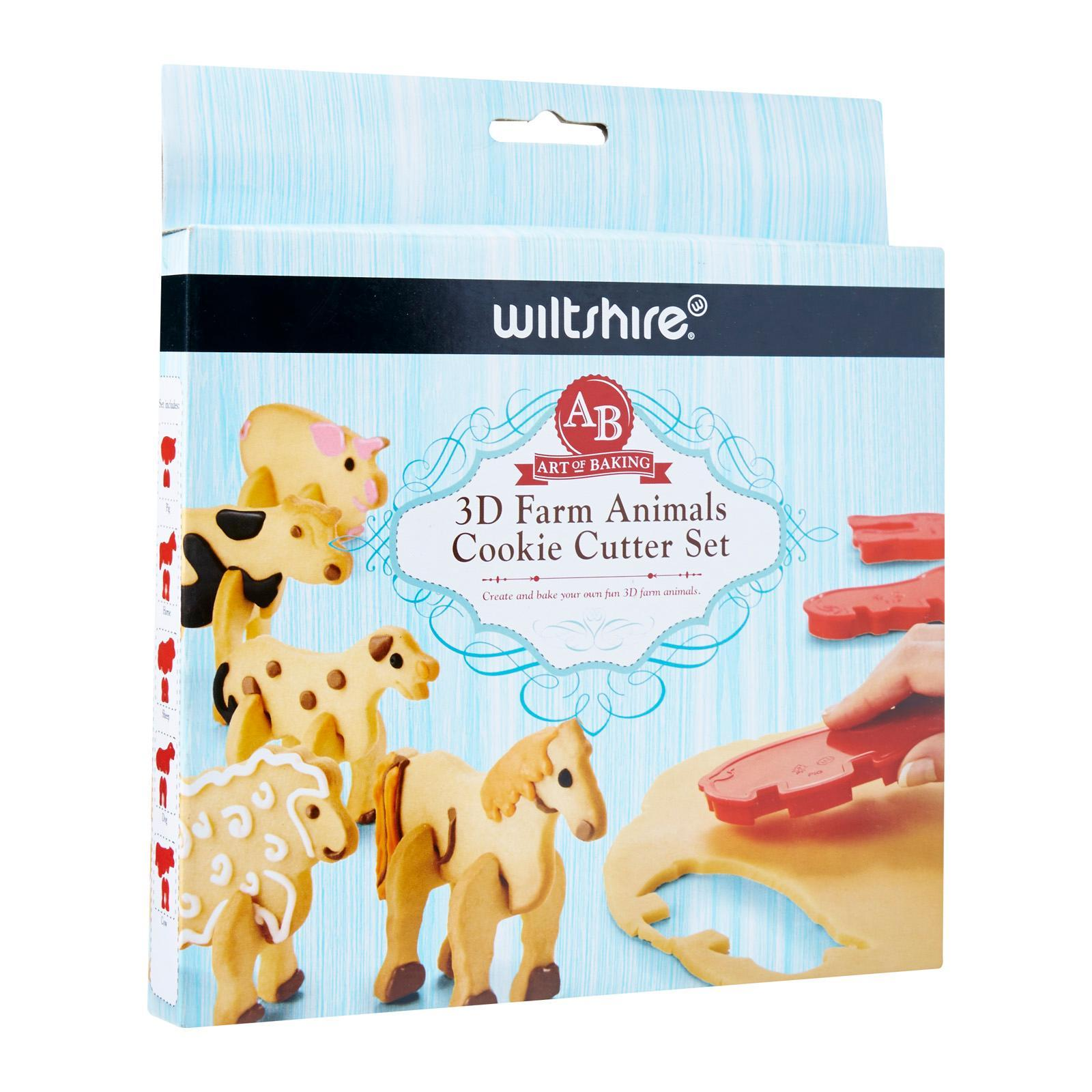 Wiltshire Art Of Baking 3D Farm Animal Cookie Cutter