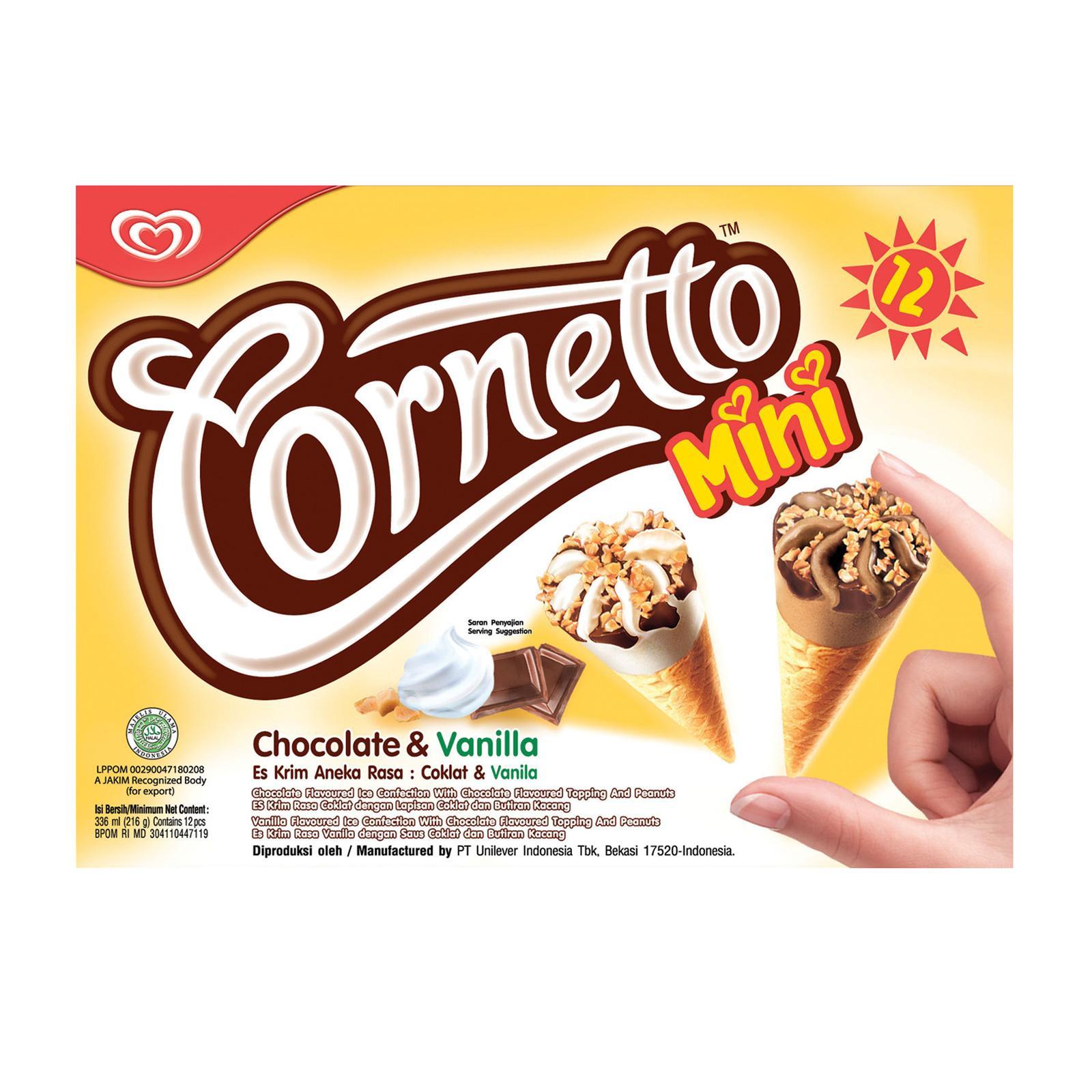 Cornetto Mini Chocolate and Vanilla Ice Cream