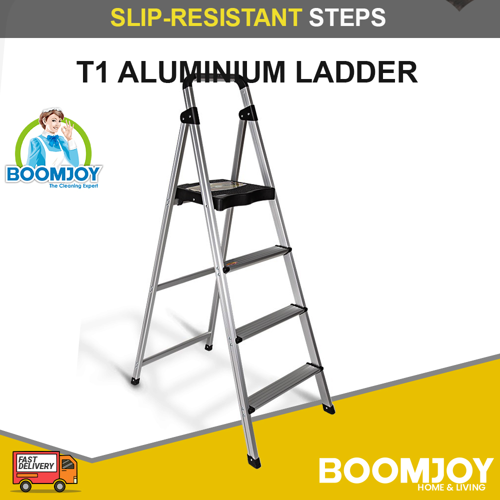 BOOMJOY T1 Aluminium Ladder slip-resistant steps for added safety