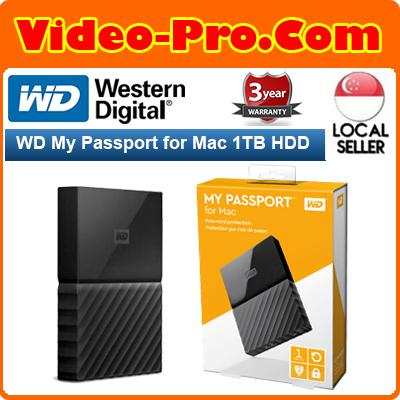 Buy WD My Passport for Mac 1TB Portable External Hard Drive WDBFKF0010BBK  Singapore