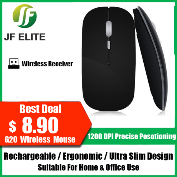 G20 Rechargeable Wireless Mouse - Ultra Slim / Ergonomic 🇸🇬 Local Seller 🇸🇬