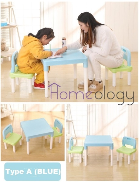 Kids Study Table Child Learning Alphabets Teaching Desk Chair Set