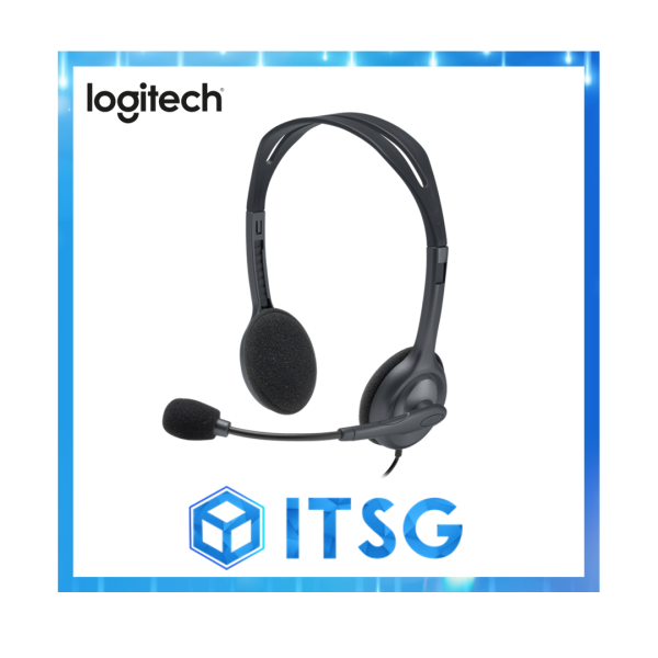 Logitech H111 Stereo Single-Jack Headset (Local 1 Yr Warranty) Singapore