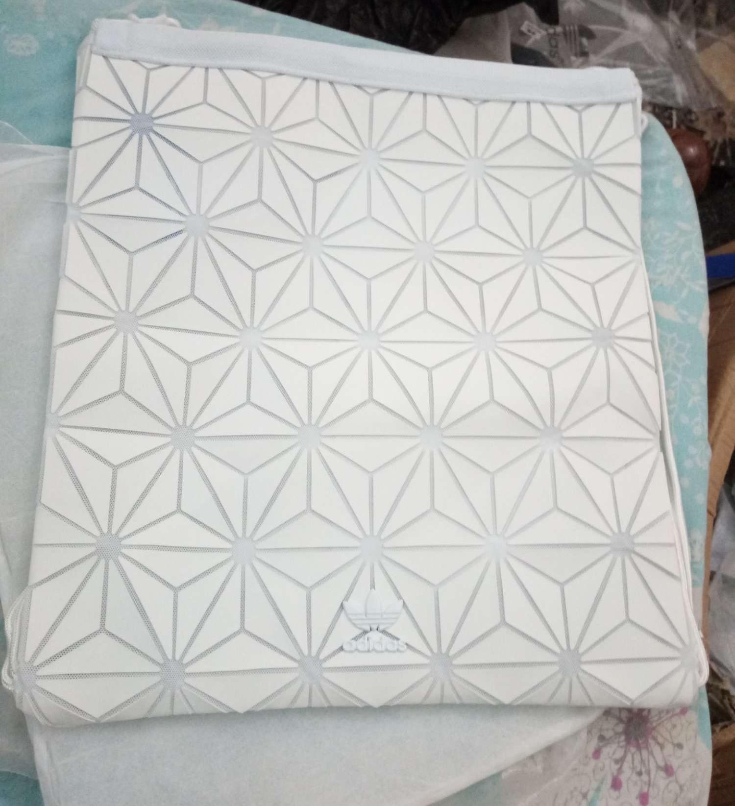 Adidas Issey Miyake White Drawstring Bag