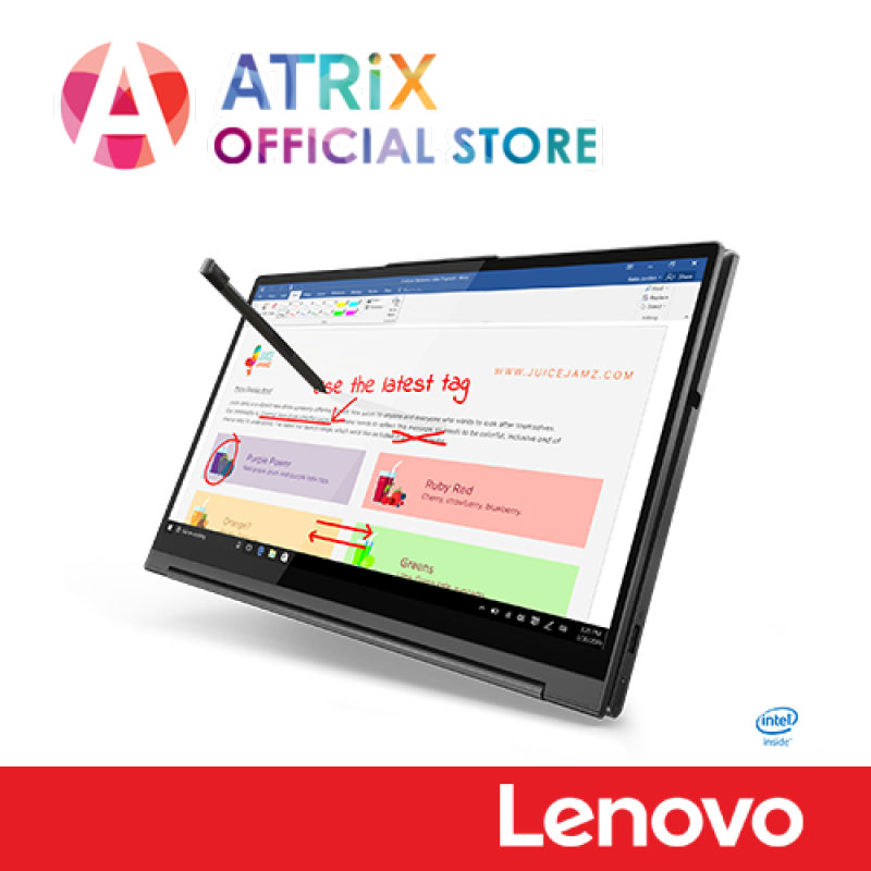 【Same Day Delivery】Lenovo YOGA C740-14IML |14 FHD 300nites | i7-10510U | 16GB DDR4 | 1TB PCIE SSD | 2Yr OnSite+1st year ADP | Ready Stock Ship Today