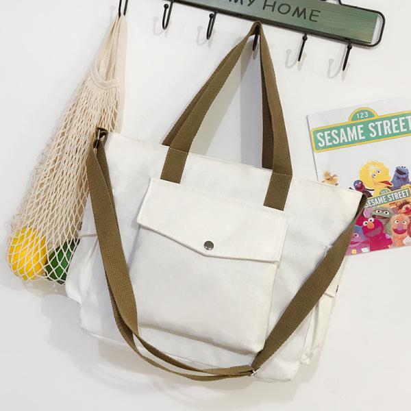 Large Capacity Canvas Bag Women New Style Fashion Shoulder Bag Women Versatile Ins Leisure Shoulder Fashion Simple Package Singapore
