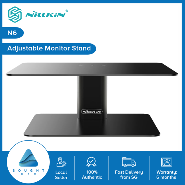 Nillkin N6 HIGH DESK Monitor Stand Riser Adjustable Metal Desk for Monitor Screen iMax Laptop Notebook Macbook