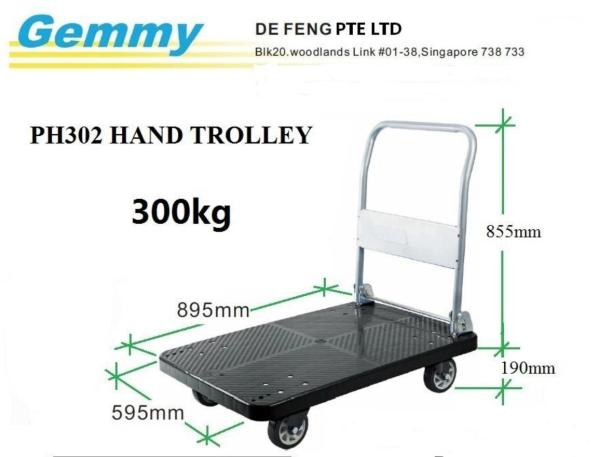 SG Seller Hand Trolley Weight 300kg {Local Warranty}