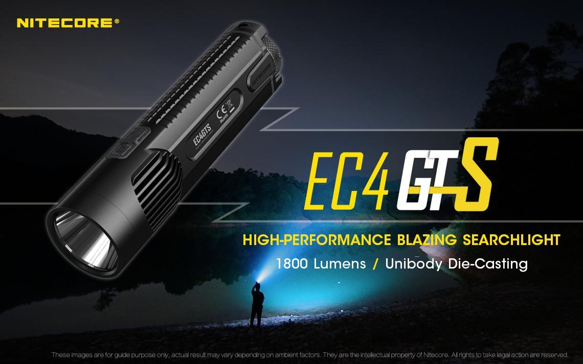 Nitecore EC4GTS High-Performance Blazing LED Searchlight