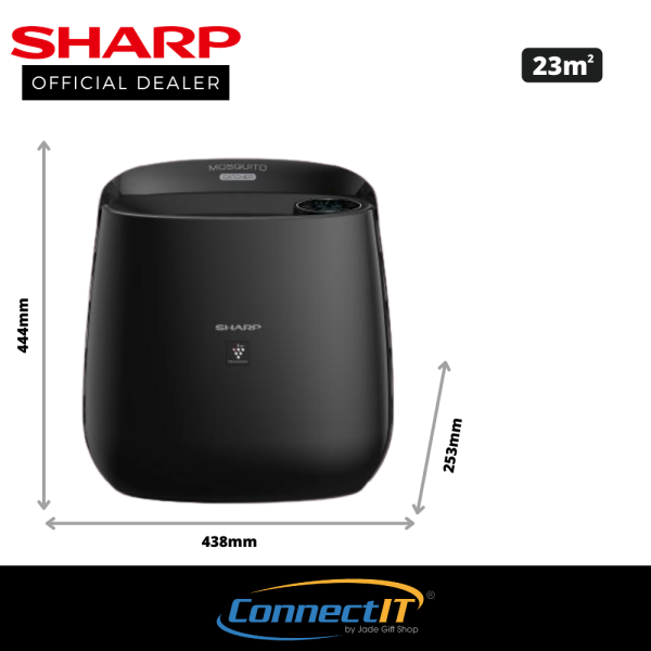 Sharp FP-JM30E (Black) Mosquito Catcher With Air Purifier up to 23sqm room size. HEPA Filter, odor removal. 1 year Local Warranty Singapore