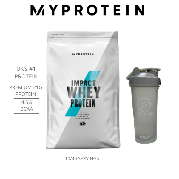 Buy MyProtein Whey Impact Whey Protein Starter Kit | 23gProtein/Serving [Free BlenderBottle] Singapore