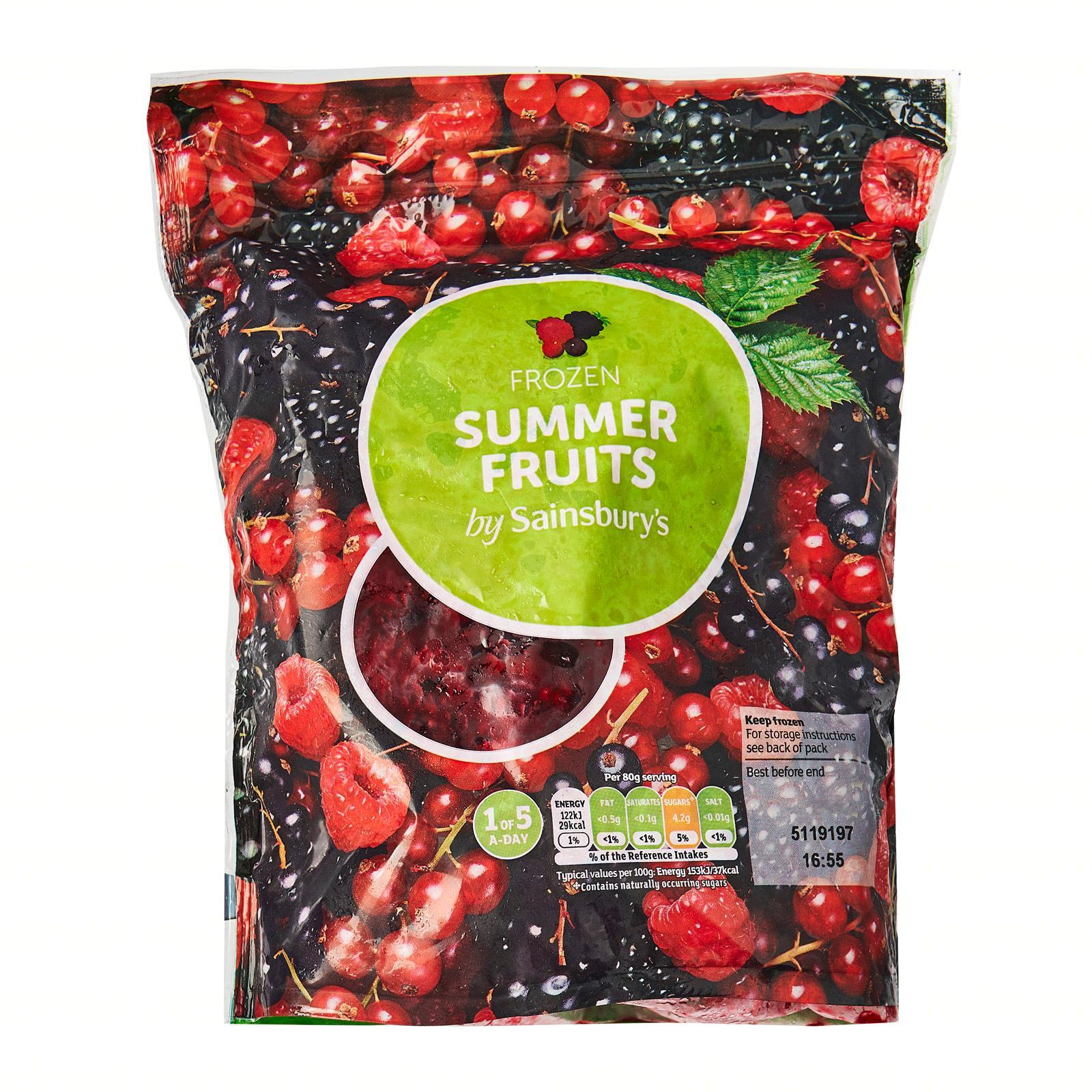 Sainsbury's Summer Fruits Mix - Frozen
