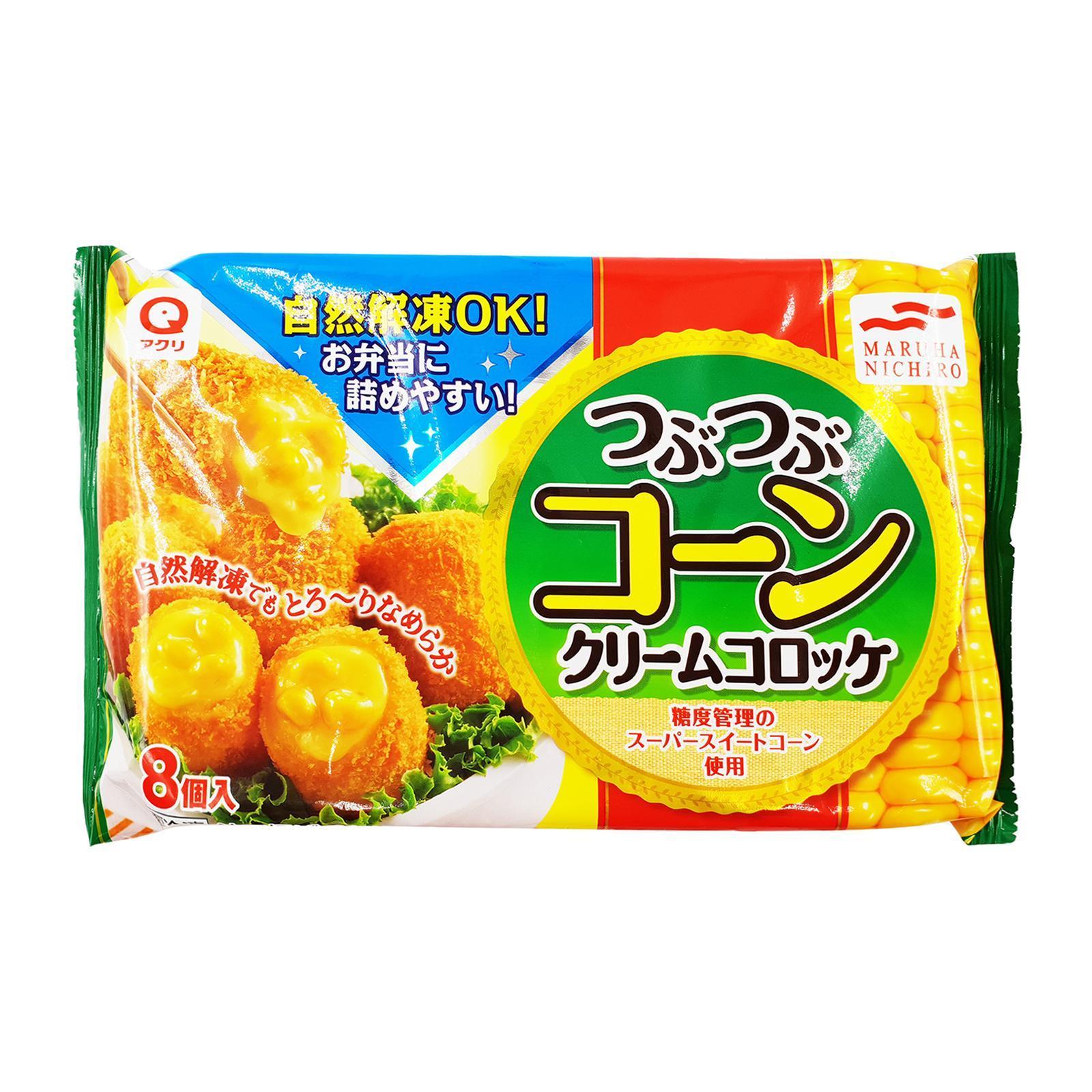 Maruha Nichiro Tsubutsubu Corn Cream Croquette 8pcs - Frozen