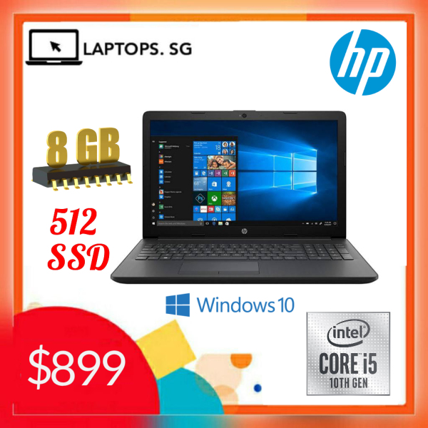 Hp Notebook - 15-DA2174nia / Business Laptop / Core i5 10th Gen processor / 8GB RAM, 512 SSD / 15.6inch HD LED / Windows 10 pro  (One year HP Warranty)