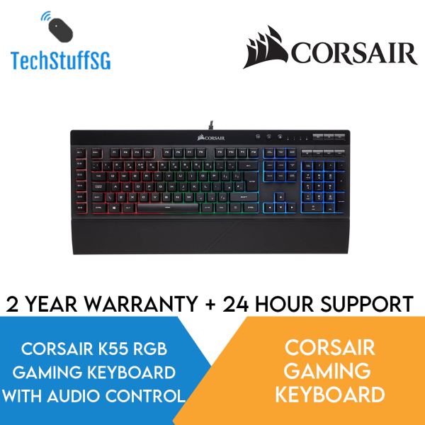 Corsair K55 RGB Gaming Keyboard with Macro Keys and Dedicated Volume/Multimedia Controls CH-9206015-NA Singapore