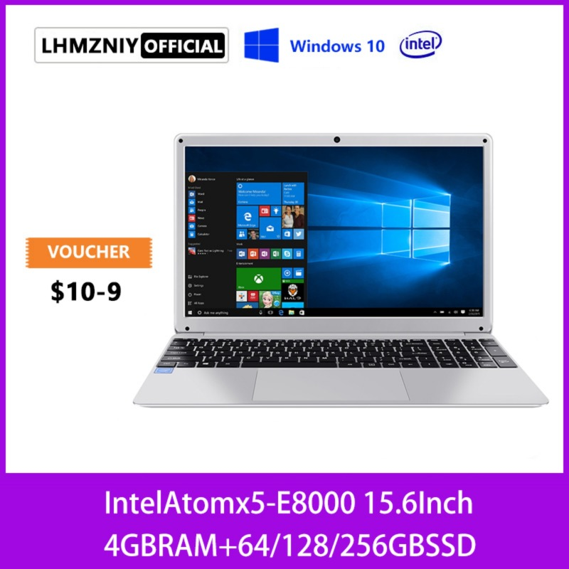 LHMZNIY [1 Year Warranty] 14.1 Inch 1366*768 Intel Atom x5-E8000 4GB+256GB SSD Quad Core Up to 2.0GHz 2MP 5000*2mAh 38Wh 10 Hours Gaming Laptop