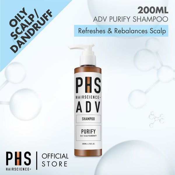 Buy PHS ADV Purify Shampoo 200ml - Refreshes and Rebalances Scalp, Refreshing And Cooling Effect, Remove And Prevents Dandruff and Limp, Greasy/ Oily Hair, Made in Korea Singapore