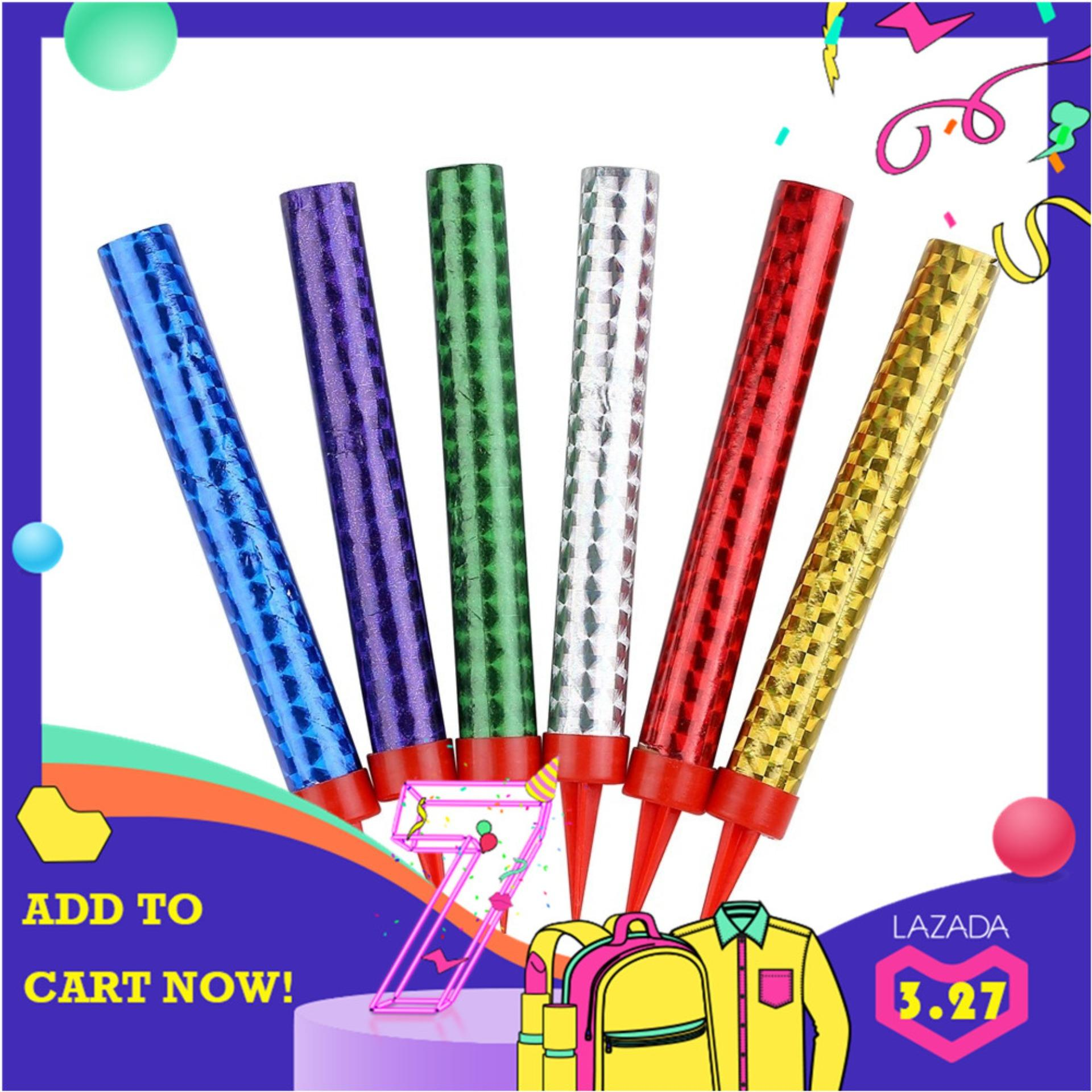 6 Pcs/ Set Birthday Cake Sparkler Candles Supplies For Birthday Festive Party Anniversary - Intl By Js-Store.