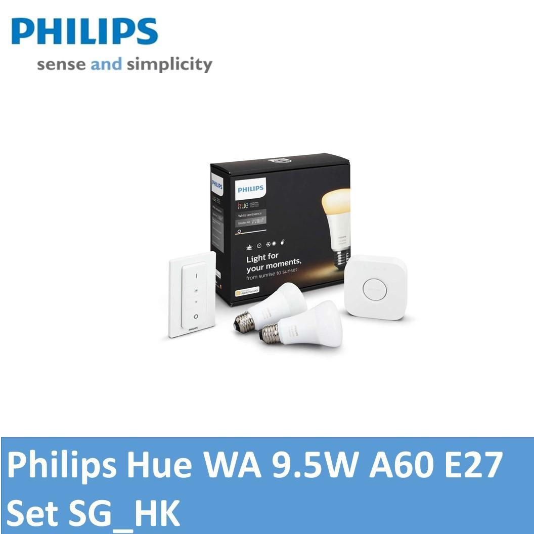 Philips Hue WA 9.5W A60 E27 set SG_HK