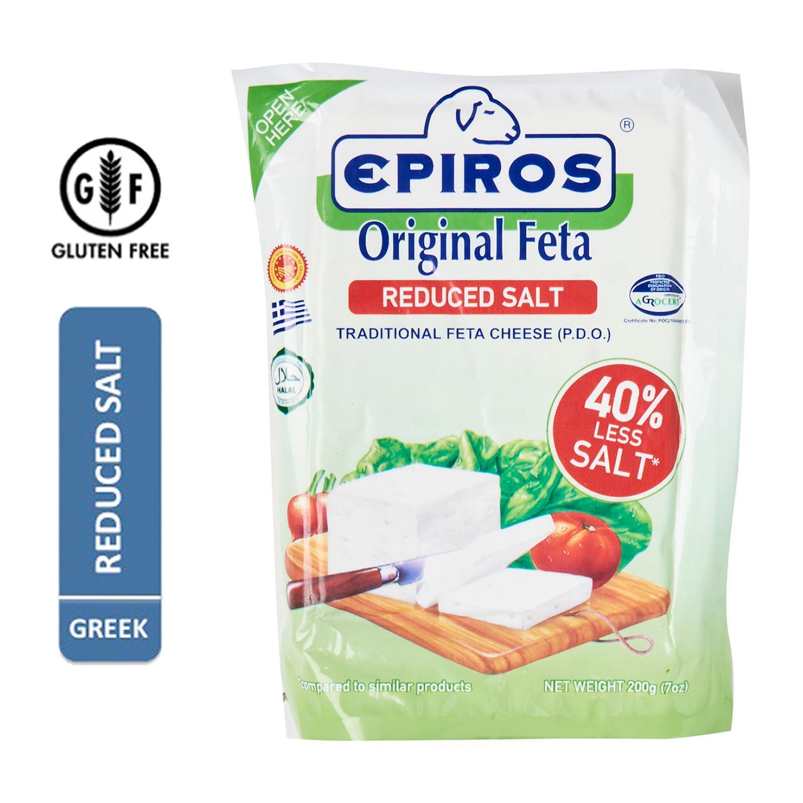 Epiros Original Greek Feta Cheese (PDO) Reduced Salt - By Agora Products