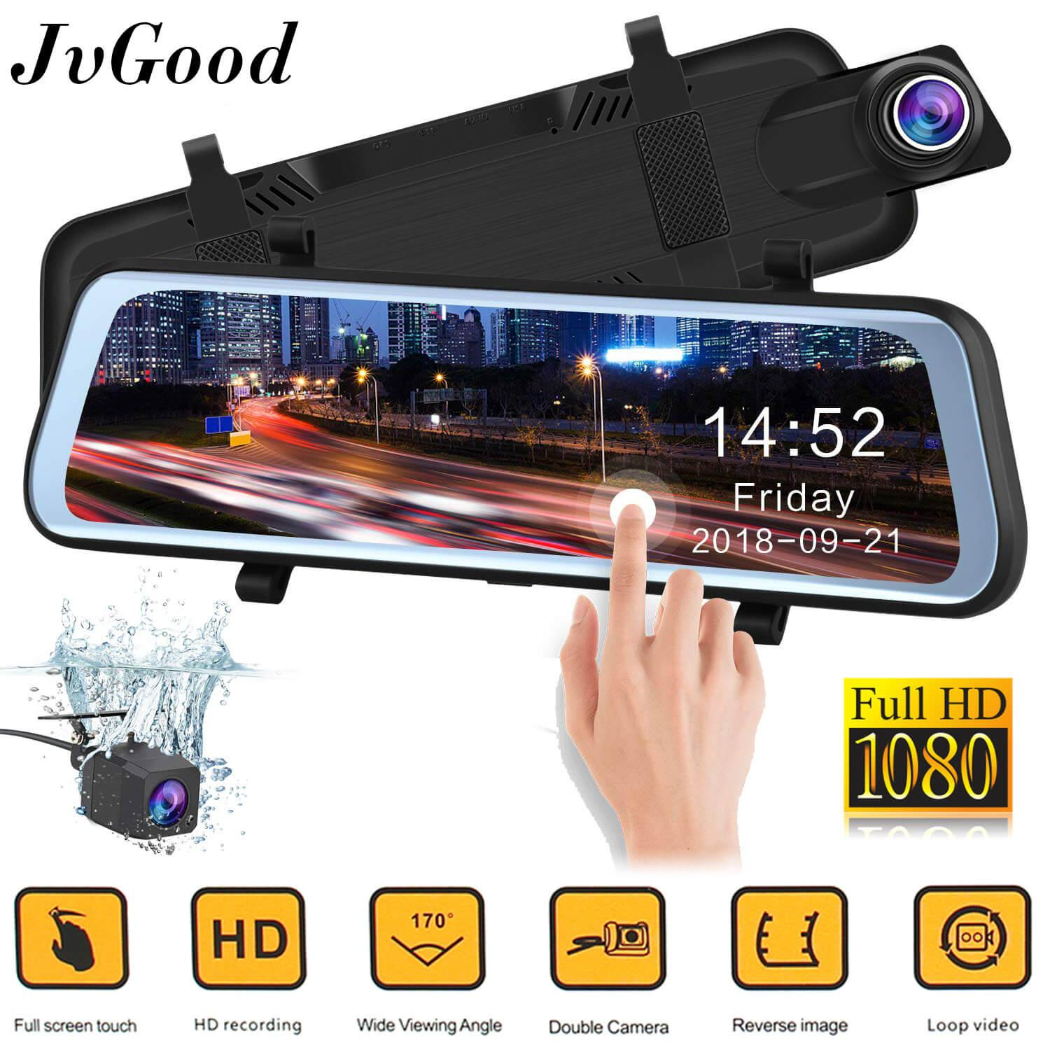 JvGood Car DVR, Dash Cam Mirror Rear View Mirror Camera, Car Video Recorder ,
